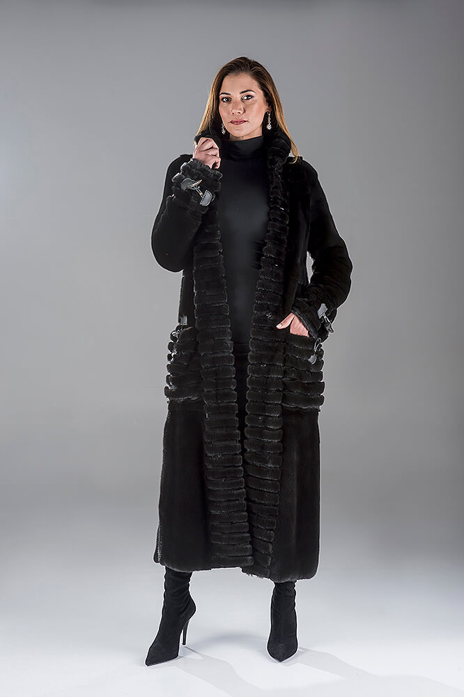 Full Skin Black Nafa Mink Coat