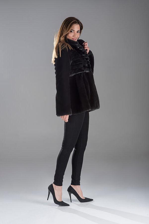 Full Skin Black Nafa Mink Jacket
