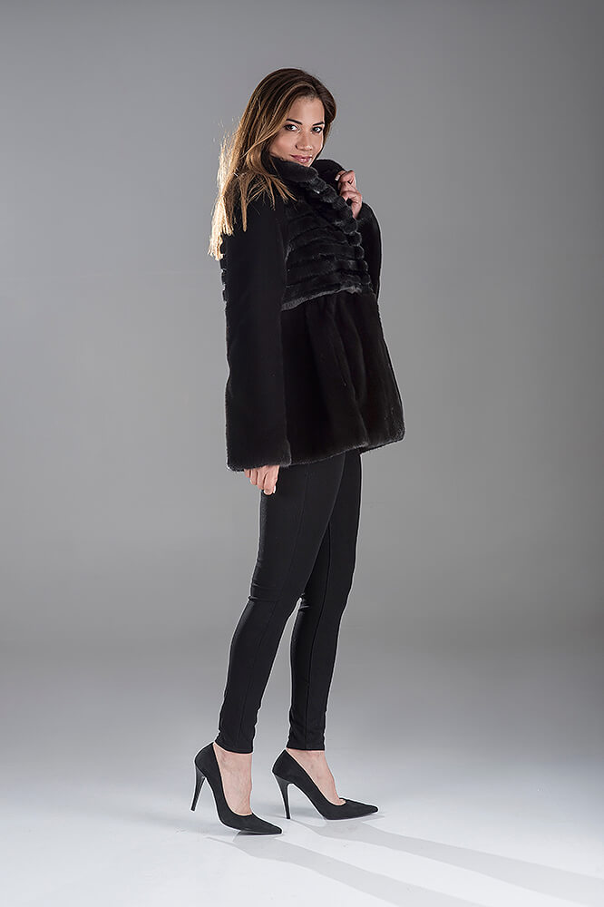 Full Skin Black Nafa Mink Jacket