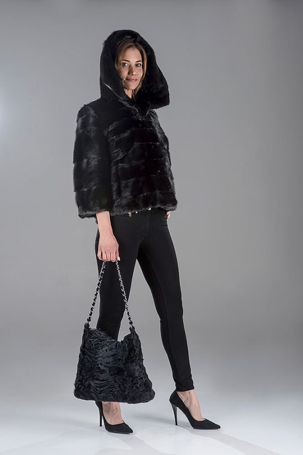 Full Skin Black Mink Short Jacket