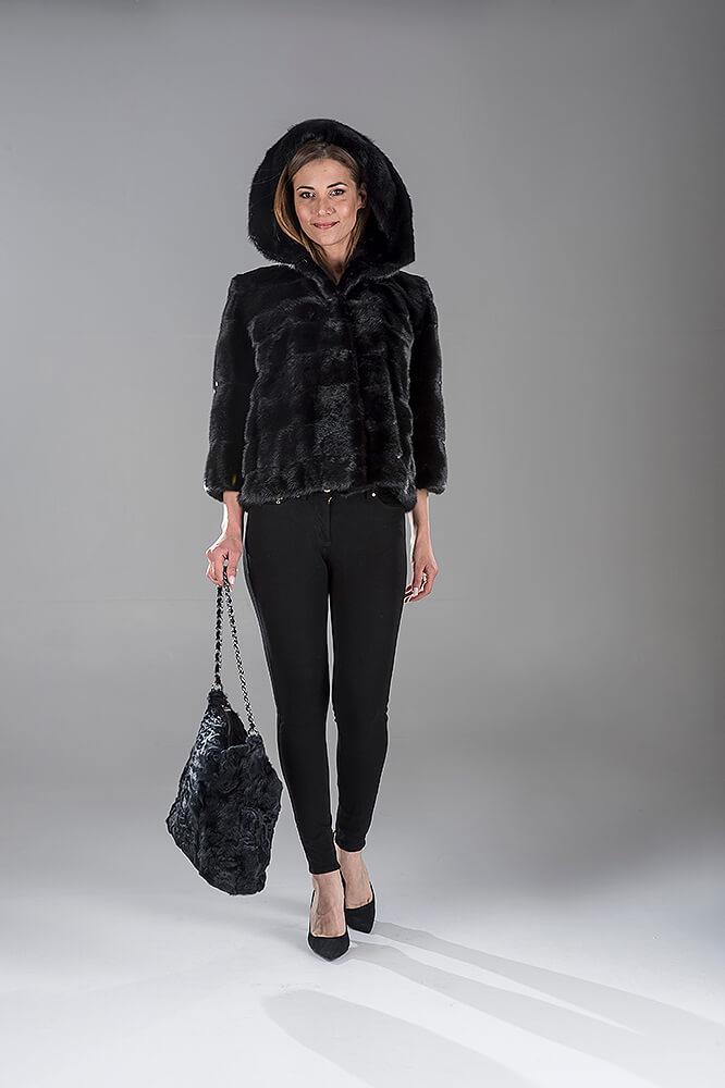 Full Skin Black Mink Short Jacket