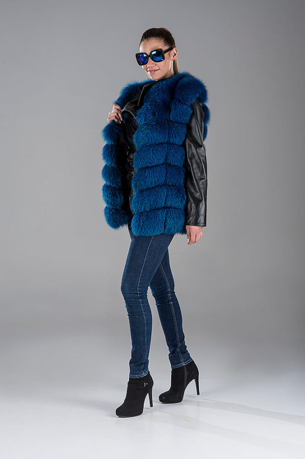 Full Skin Blue Canadian Fox Gillet