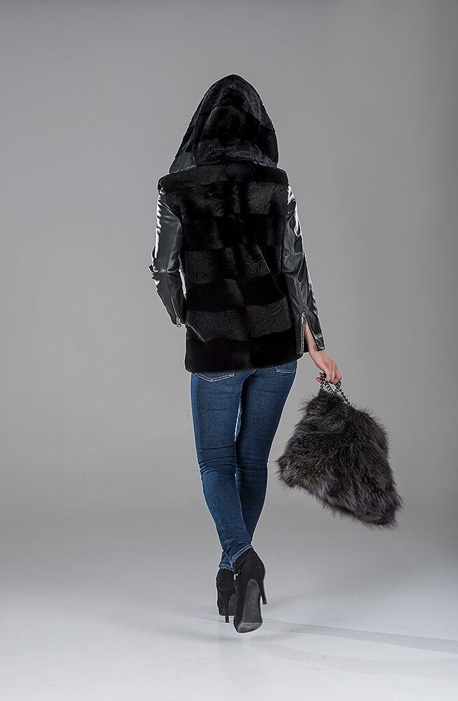 Black Sheared Beaver Gillet(Vest)