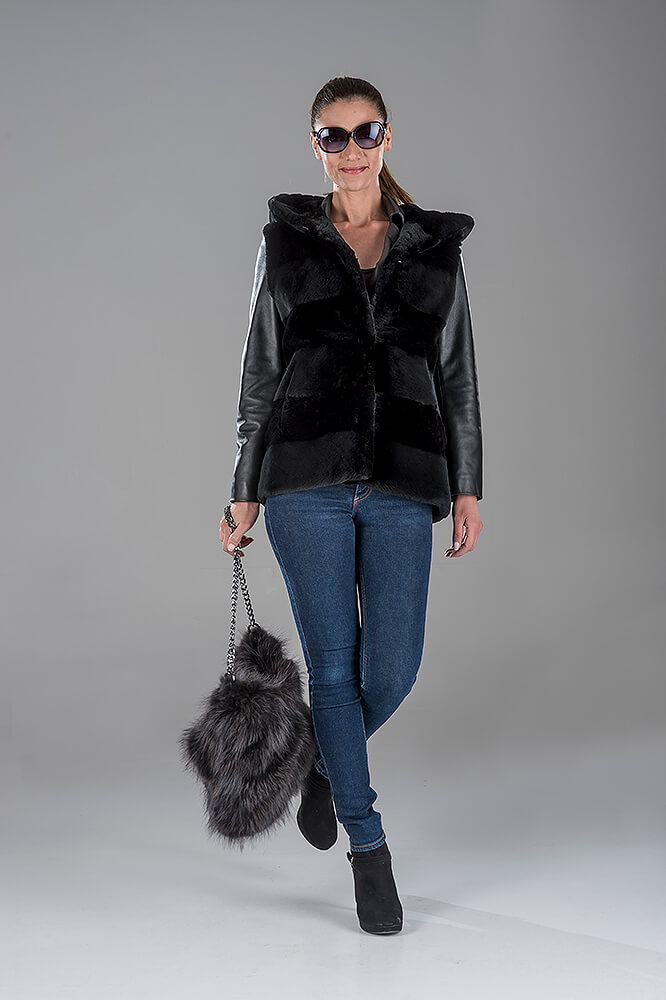 Black Sheared Beaver Gillet(Vest)