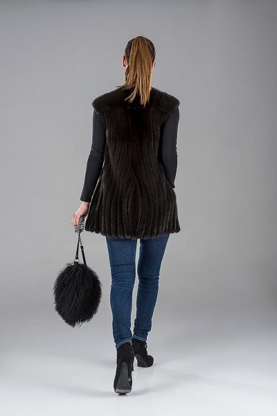 Full Skin Black Mink Gillet(Vest)