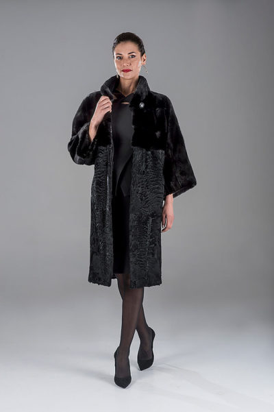 Full Skin Black Mink with Swakara Coat