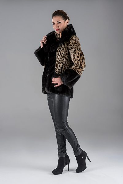 Ocelot with Mink Jacket