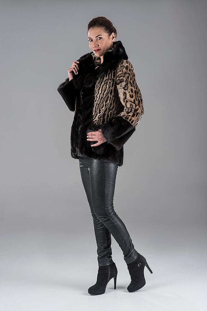 Ocelot with Mink Jacket