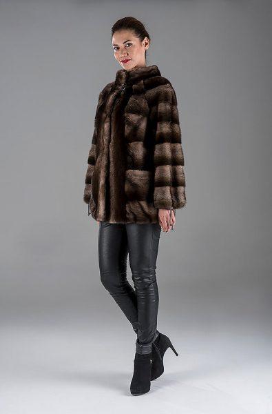 Full Skin Brown Degrade Mink Jacket