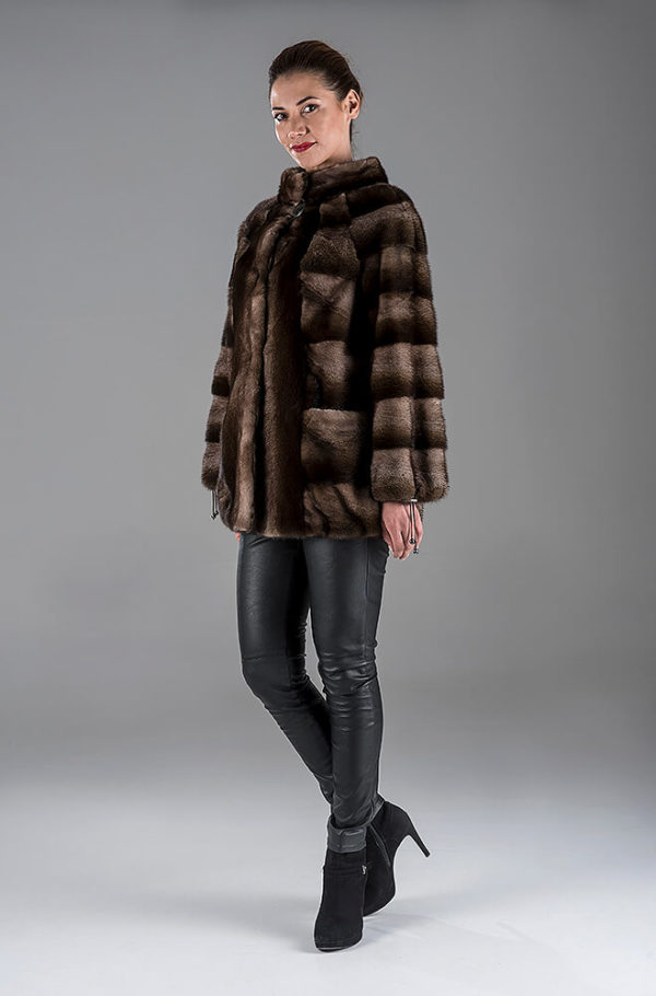 Full Skin Brown Degrade Mink Jacket