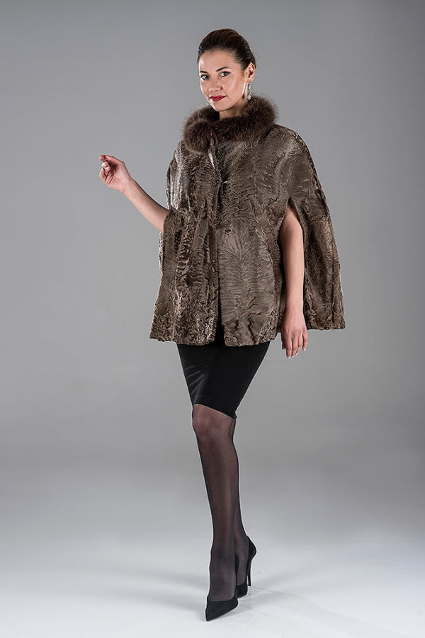 Light Brown Swakara Cape