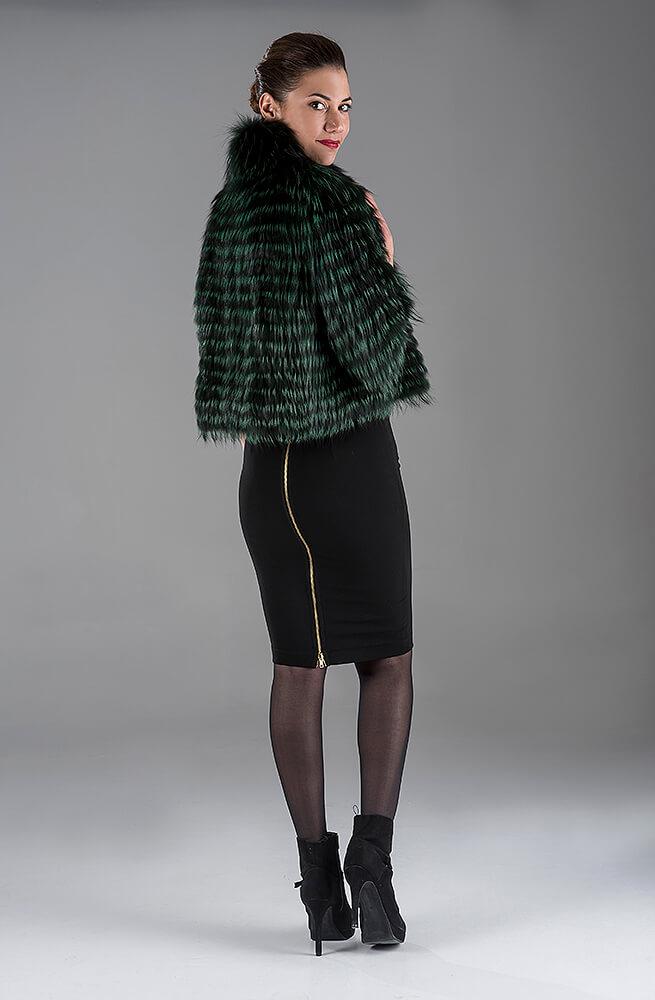 Green Fox with Knitting Bolero