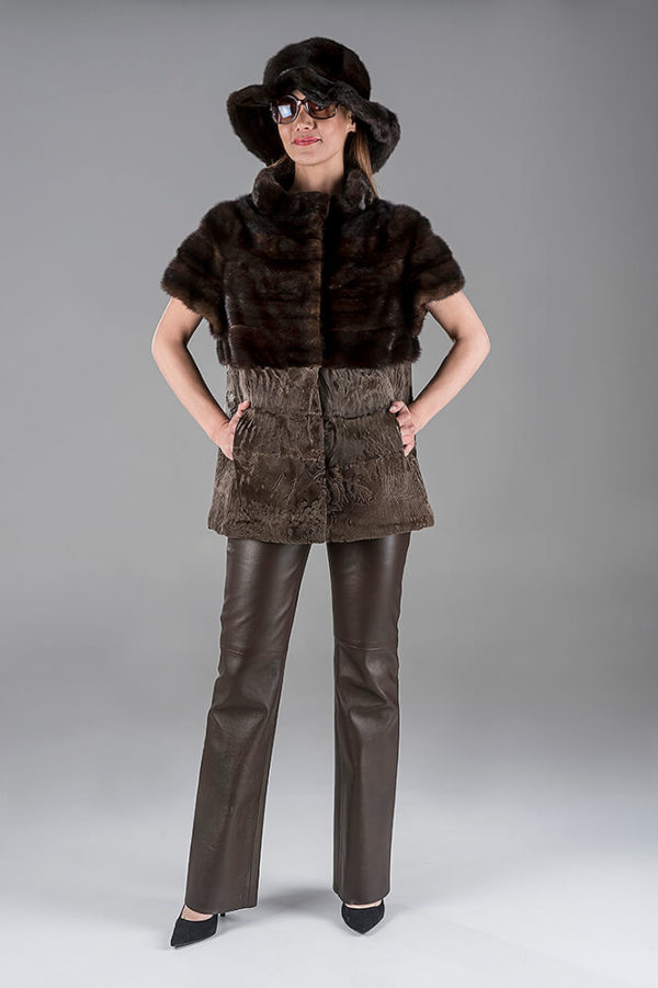 Full Skin Ranch Mink with Swakara Gillet(Vest)