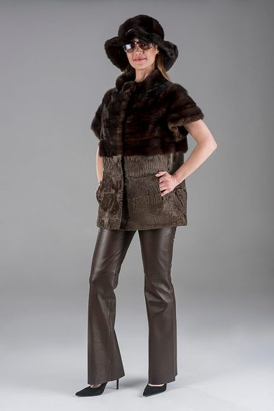 Full Skin Ranch Mink with Swakara Gillet(Vest)